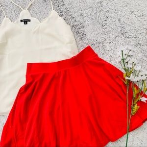Pins and Needles Red Skater Skirt